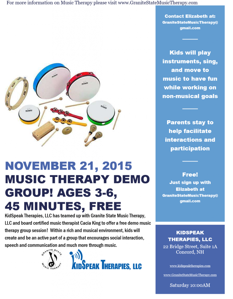 informative speech on music therapy