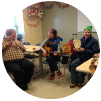 Individual or group music therapy sessions